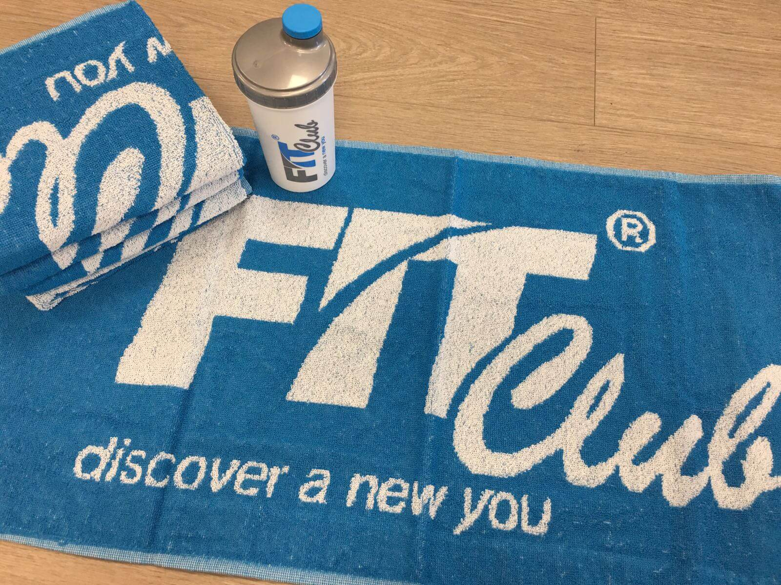 Fit Club shaker and towel